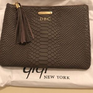 Gigi New York Taupe All in One clutch